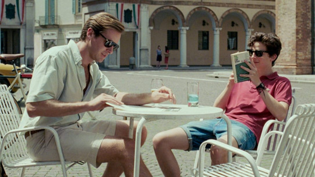 Armie Hammer (Oliver) e Timothée Chalamet (Elio) in Call Me By Your Name