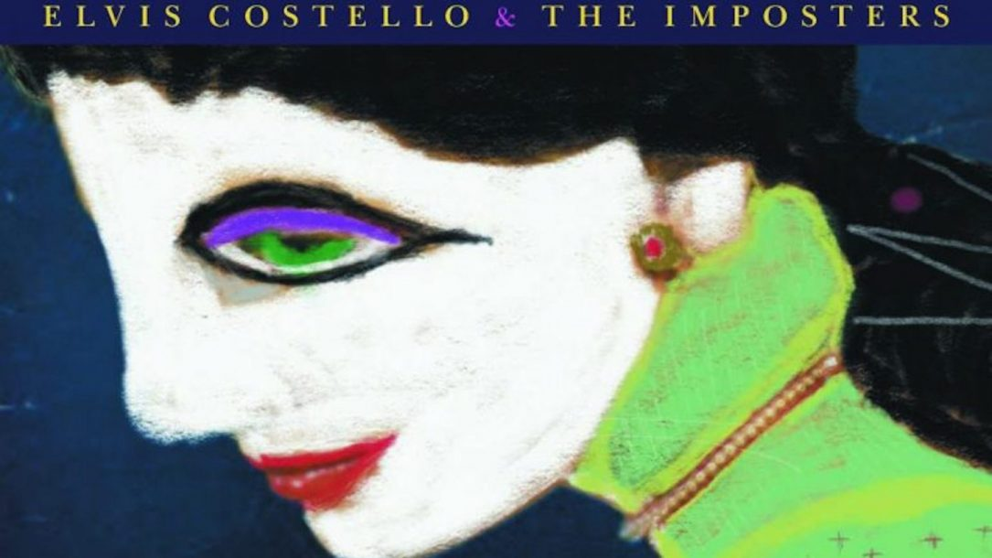 Un particolare della cover di Look Now di Elvis Costello & The Imposters