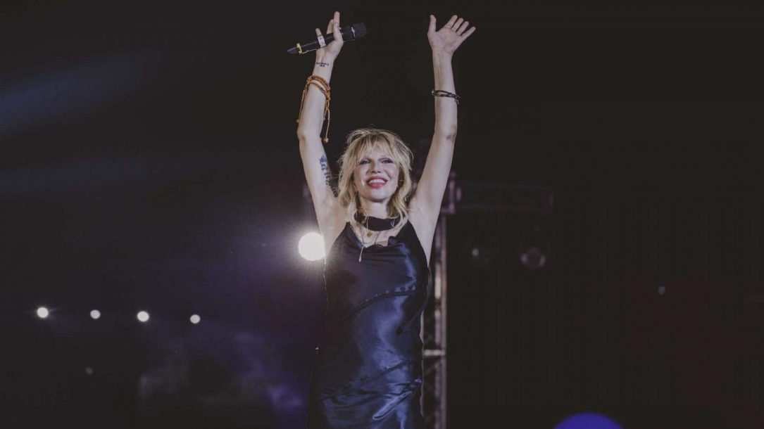 Courtney Love live a Firenze per il Rockin'1000 with LOVE