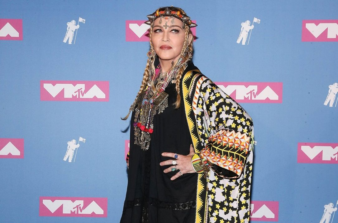 Madonna nella press room agli MTV Video Music Awards a New York nel 2018, foto di Paul Zimmerman/Getty Images