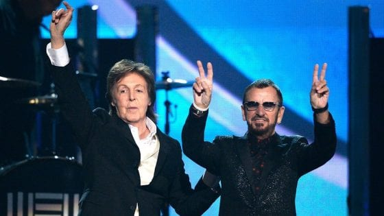 Ringo Starr con Paul McCartney